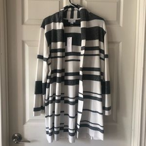 Calvin Klein striped open cardigan